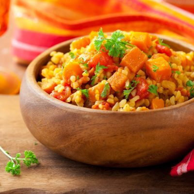 Vegetable Paella with Saffron