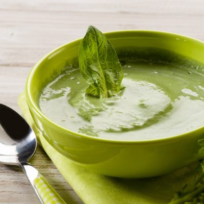 Courgette Soup with Chickpeas & Curry